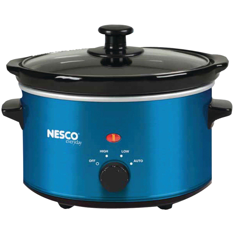 Amazon.com: Nesco SC-150B Oval Slow Cooker, 1.5-Quart, Blue: Kitchen ...