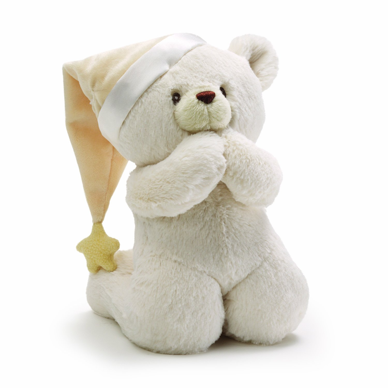 Amazon Com Baby Gund Prayer Teddy Bear Musical Stuffed Animal Plush
