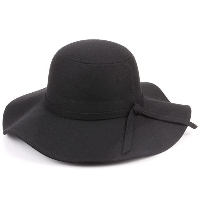Hawkins lana feltro largo con falda Cappello floscio - Nero e8aaf5101364