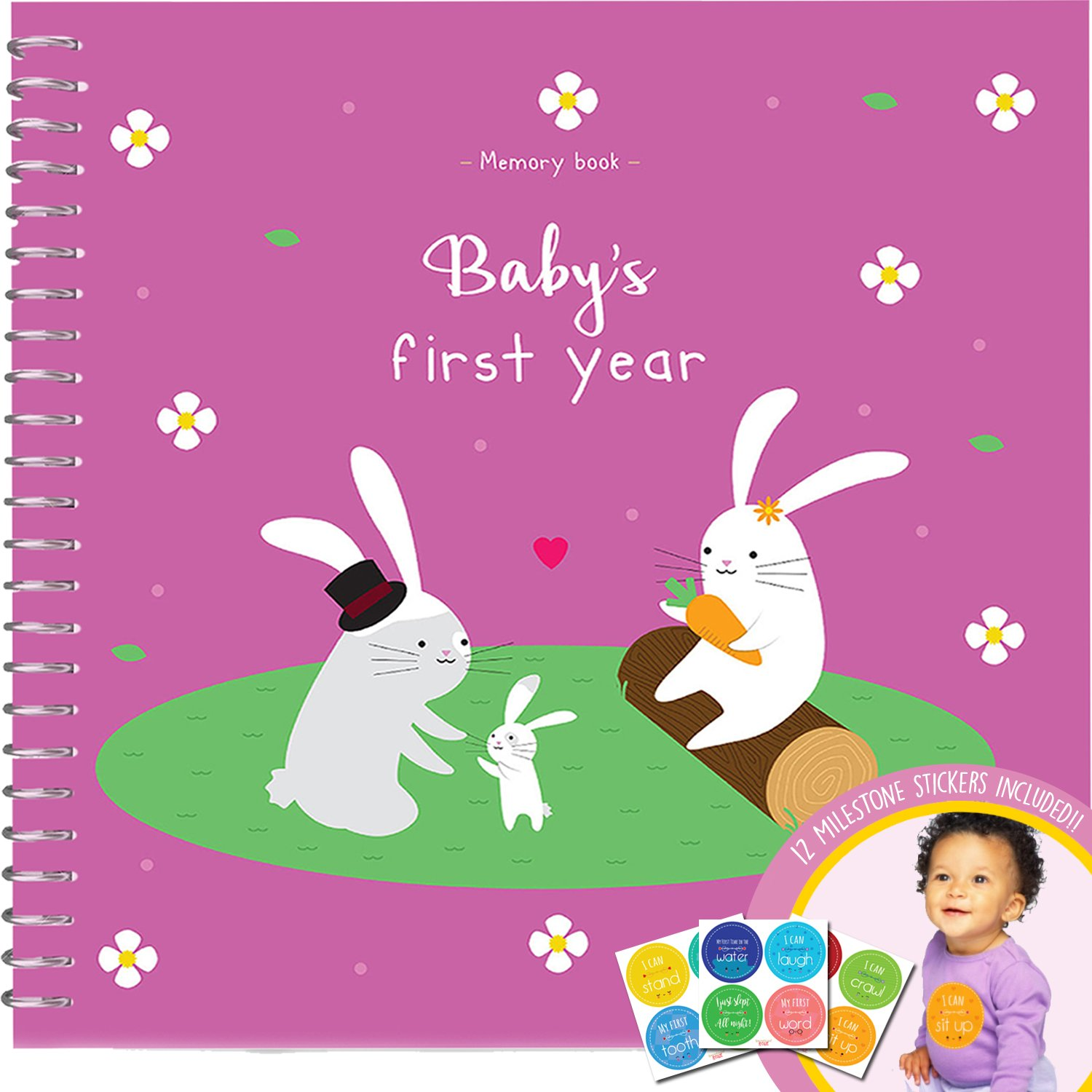 Amazon.com : Unconditional Rosie Baby\'s First Year Memory Book With ...