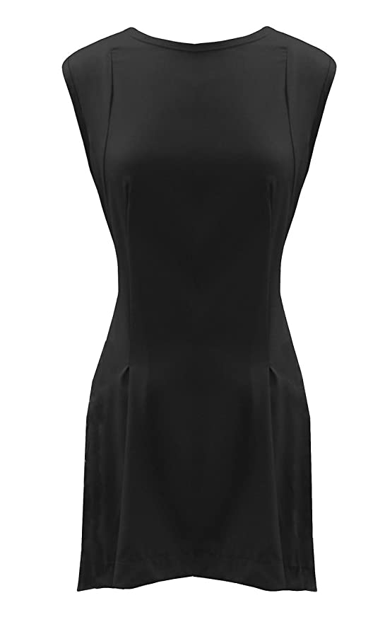 07b4689bc98 Black Red Skater Short Sleeveless Pinafore Long Dress Tunic Top US Size 14- 24 at Amazon Women s Clothing store