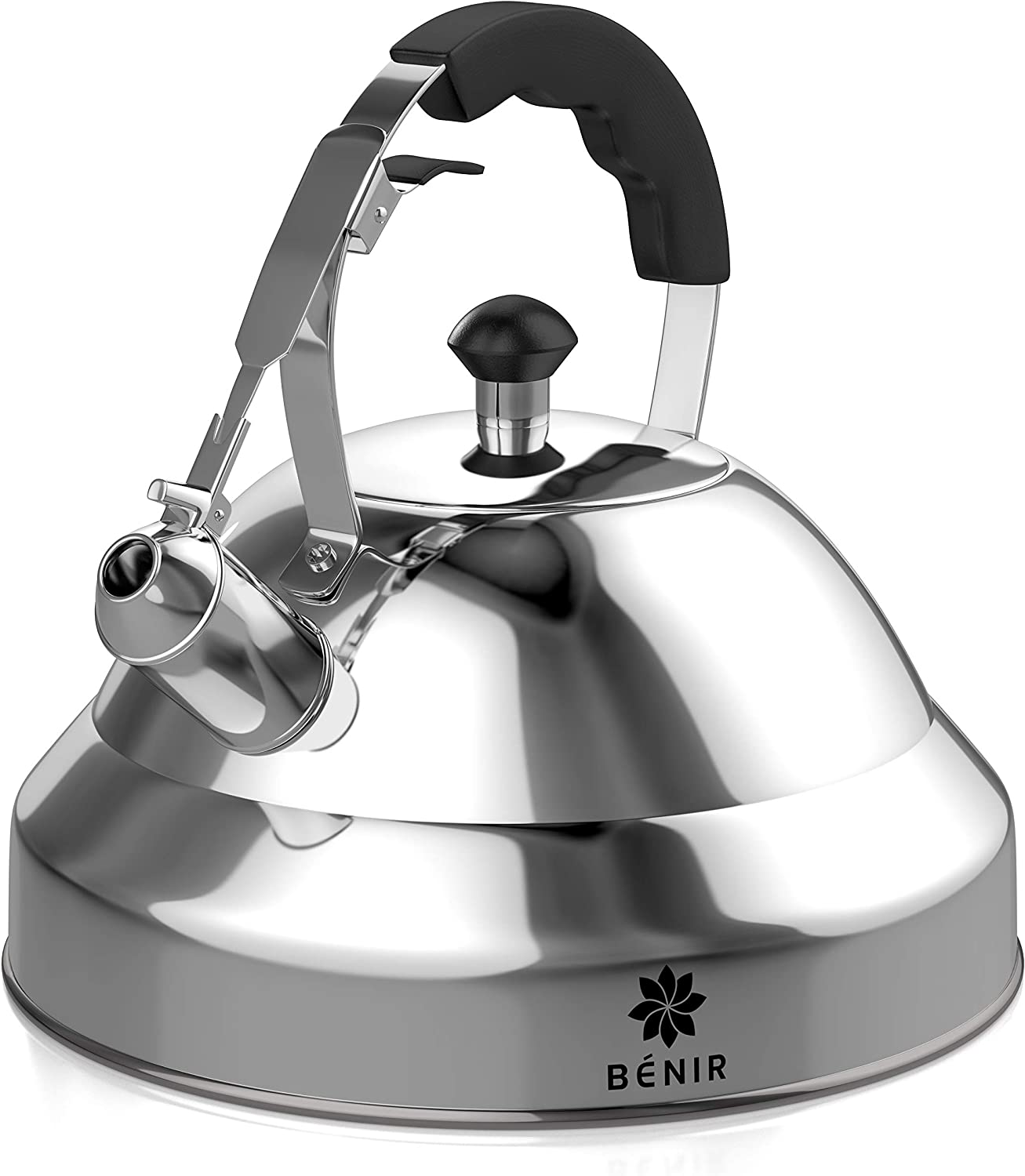 Benir Tea Kettle -2.75 Quart Stainless Steel Whistling Tea Pot for Stove Top