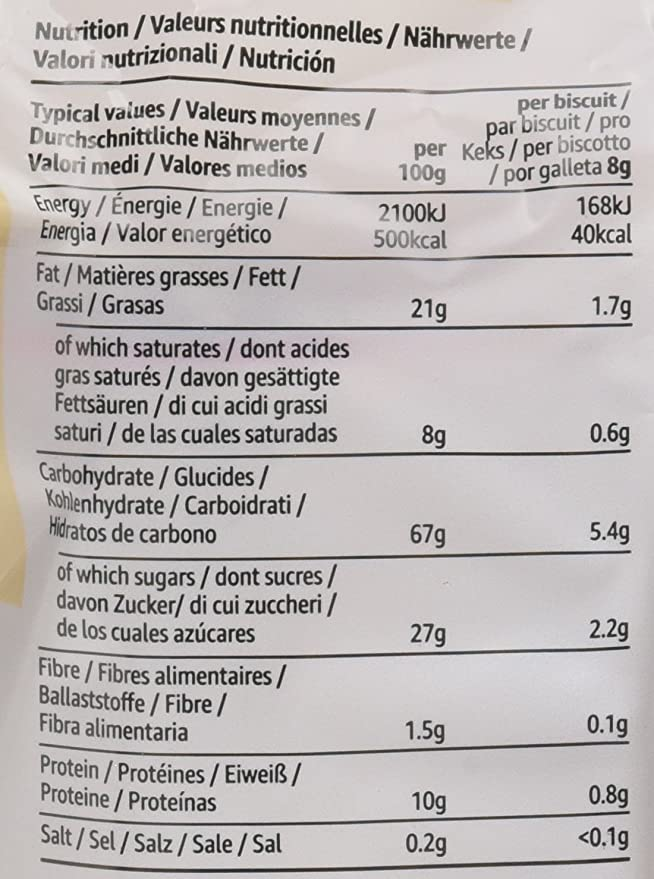 Marca Amazon- Solimo Aros de galleta - 500g x 3: Amazon.es: Alimentación y bebidas