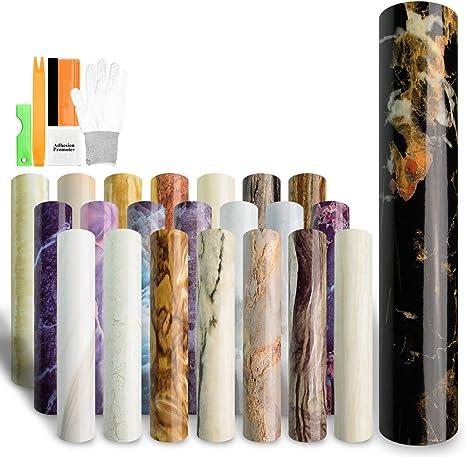 "48/""x72/"" Gloss Marble Granite Look Vinyl Wrap Contact Paper Home Kitchen DIY D35"