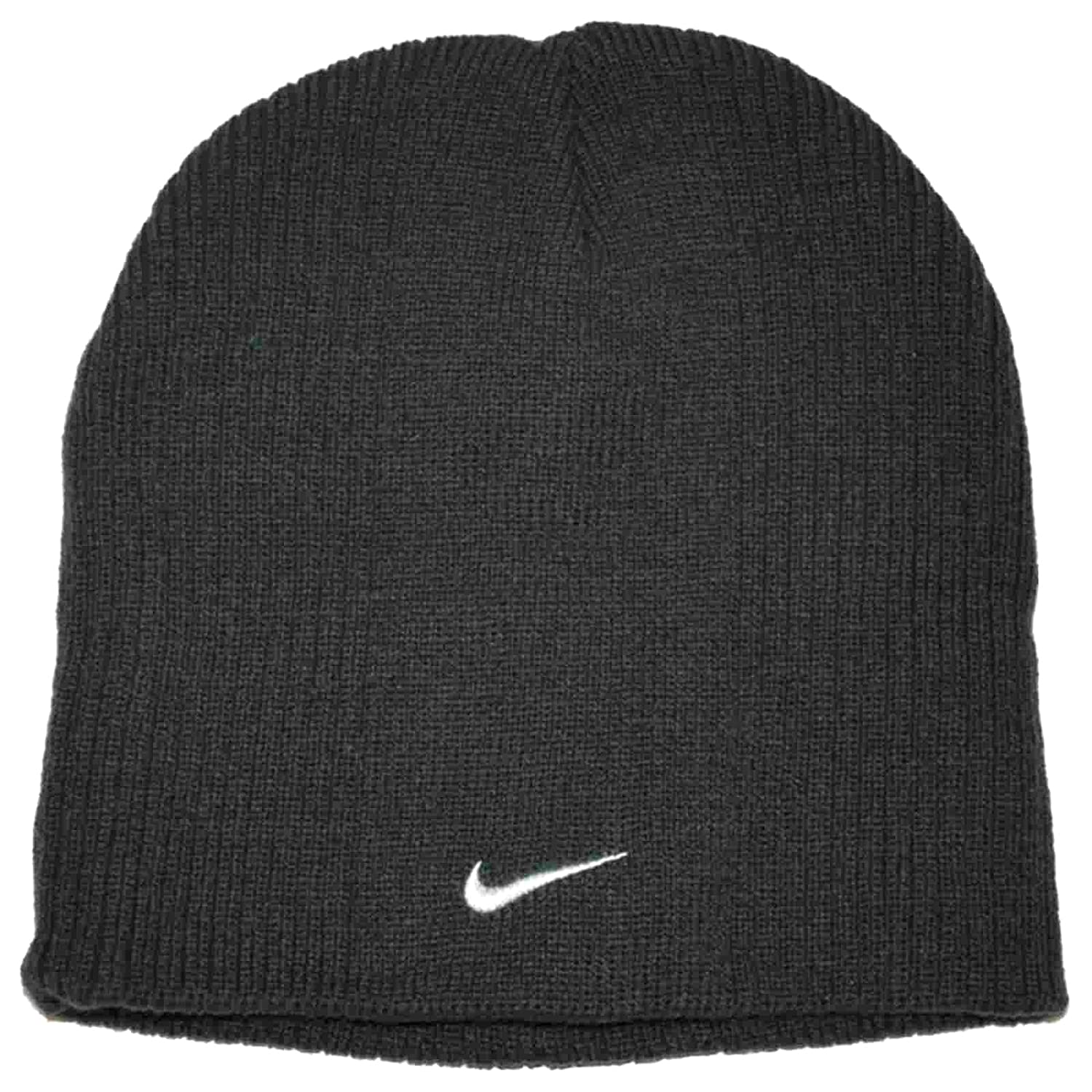 5e5112862d3 Amazon.com  Nike Small Check Youth Boys 8 20 Ribbed Beanie Hat  (Anthracite)  Sports   Outdoors