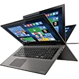 "Toshiba - Satellite Radius 2-in-1 15.6"" 4K Ultra HD Touch-Screen Laptop - Intel Core i7 - 12GB Memory - 1TB Hard Drive - Carbon Gray"