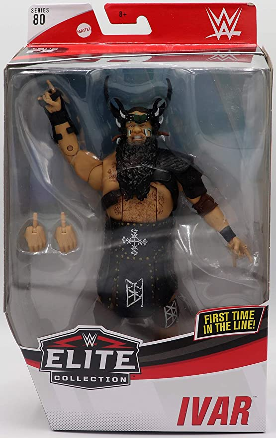 Amazon.com: WWE Ivar Elite Series #80 Deluxe Action Figure with Realistic Facial Detailing, Iconic Ring Gear & Accessories: Toys & Games