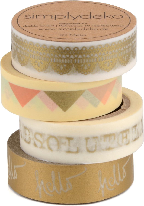 Masking Tape Set Backen Wundervolles Washitape Bastel-Klebeband aus Reispapier Simplydeko Washi Tape Set
