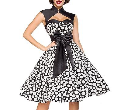 Vintage-Kleid mit angenähtem Bolero  Amazon.de  Bekleidung 3da49c6f60