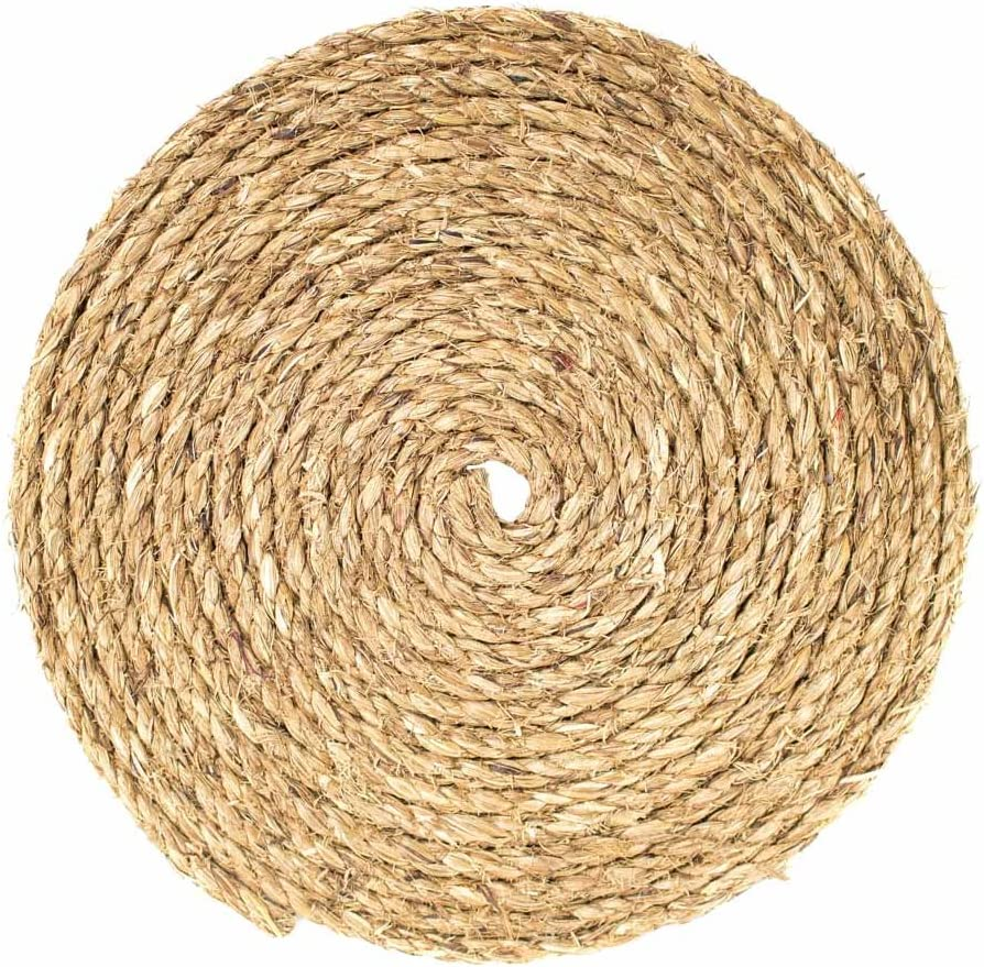 "Biodegradable Commercial Decoration Landscape Indoor//Outdoor DIY Crafts Great White Manila Rope 3//8/"" x 100/' Tan Twisted 3 Strand 100/% Natural Abaca Fiber Marine 5 Star Moisture All Purpose Hemp"