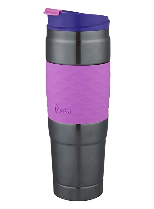 b95a757ea3b Bubba HT Vacuum-Insulated Stainless Steel Travel Mug with Grip, 26 oz,  Paradise Purple