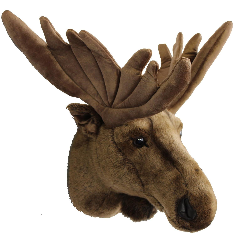 New Stuffed Animal Moose Head Wall Mount Trophy 45 x 60 x 37 cm  ES13