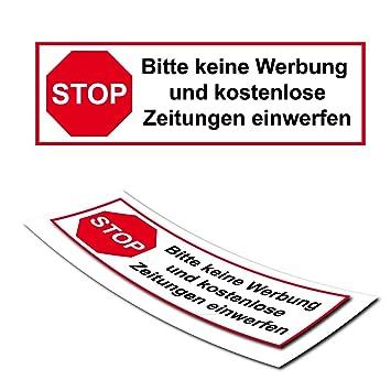 Briefkasten Aufkleber Stop Keine Werbung Keine Zeitungen Sticker Post Zeitschriften Aufkleber Briefkastenschilder Dd007v