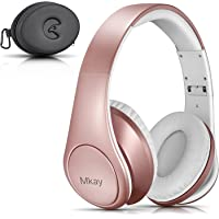 Mkay Over-Ear Wireless Bluetooth Headphones (Rose Gold)