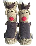 PreSox Non-slip Knit Sweater Warm Household Floor Socks for Women