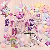 風船 誕生日 飾り付け セットユニコーンパーティー風船セット ハッピーバースデーパーティー女の子と男の子のためのユニコーンバルーン誕生日装飾セット RoyalParty