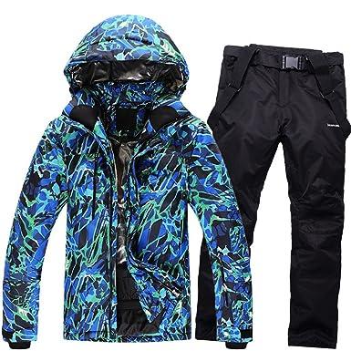 Men s Waterproof Windproof Ski Jacket+Pants Set Outdoor Insulated Winter  Snowboard Suit 37464978b