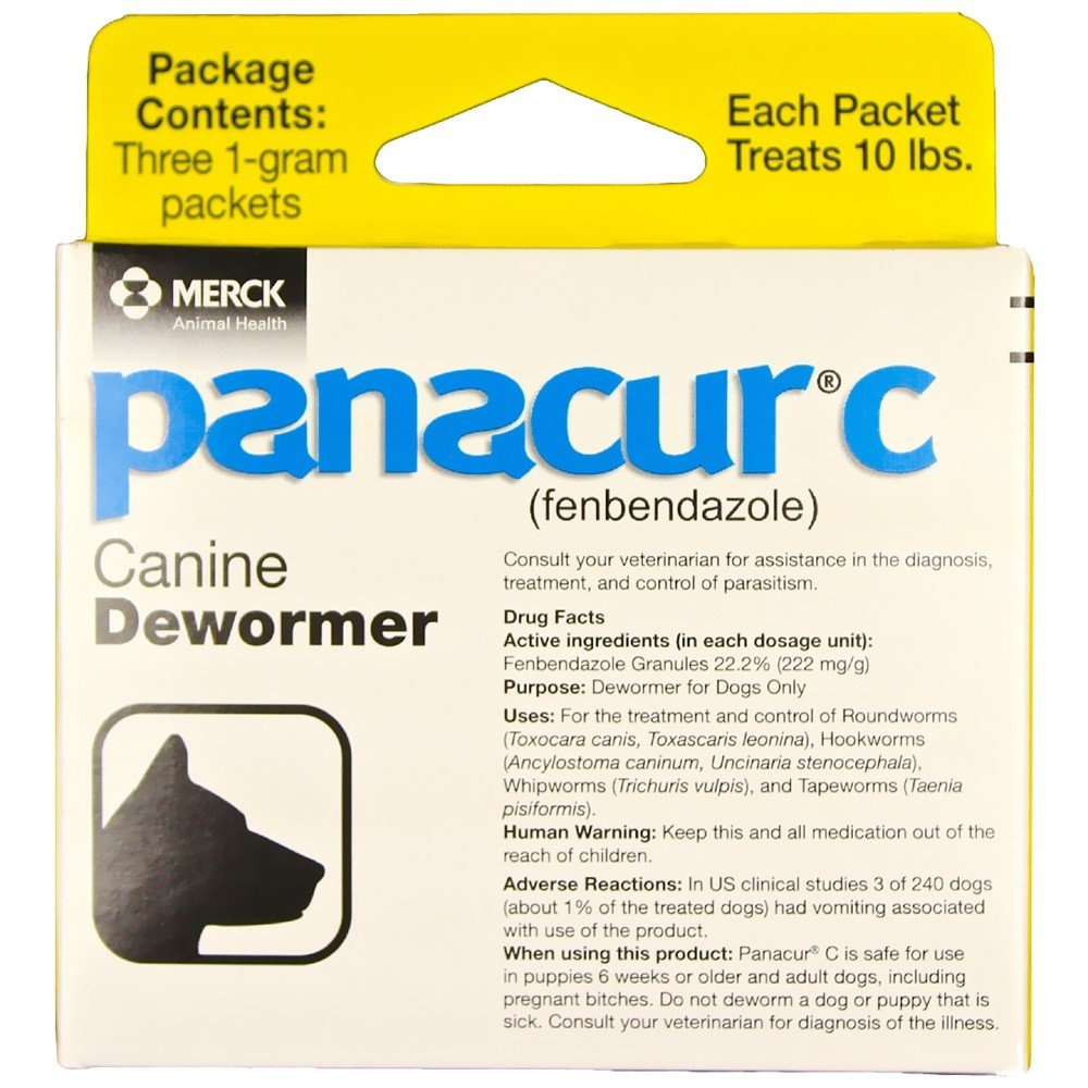 Panacur C Canine Dewormer (fenbendazole), 1 gram by Panacur C