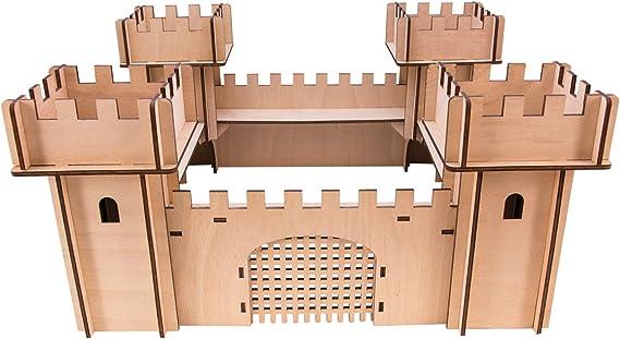 koakid Niños Madera Burg Ritter montar Madera Castillo regalo ...