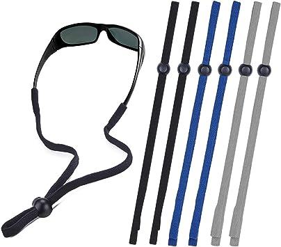 5 Pack Silicone Eyeglasses Strap Holder Glasses Retainer Sunglasses Elastic Men