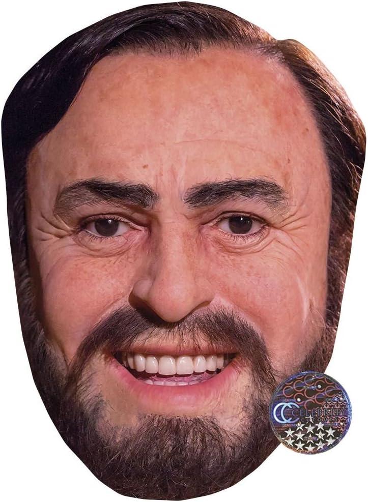 Pavarotti Celebrity Mask Card Face and Fancy Dress Mask