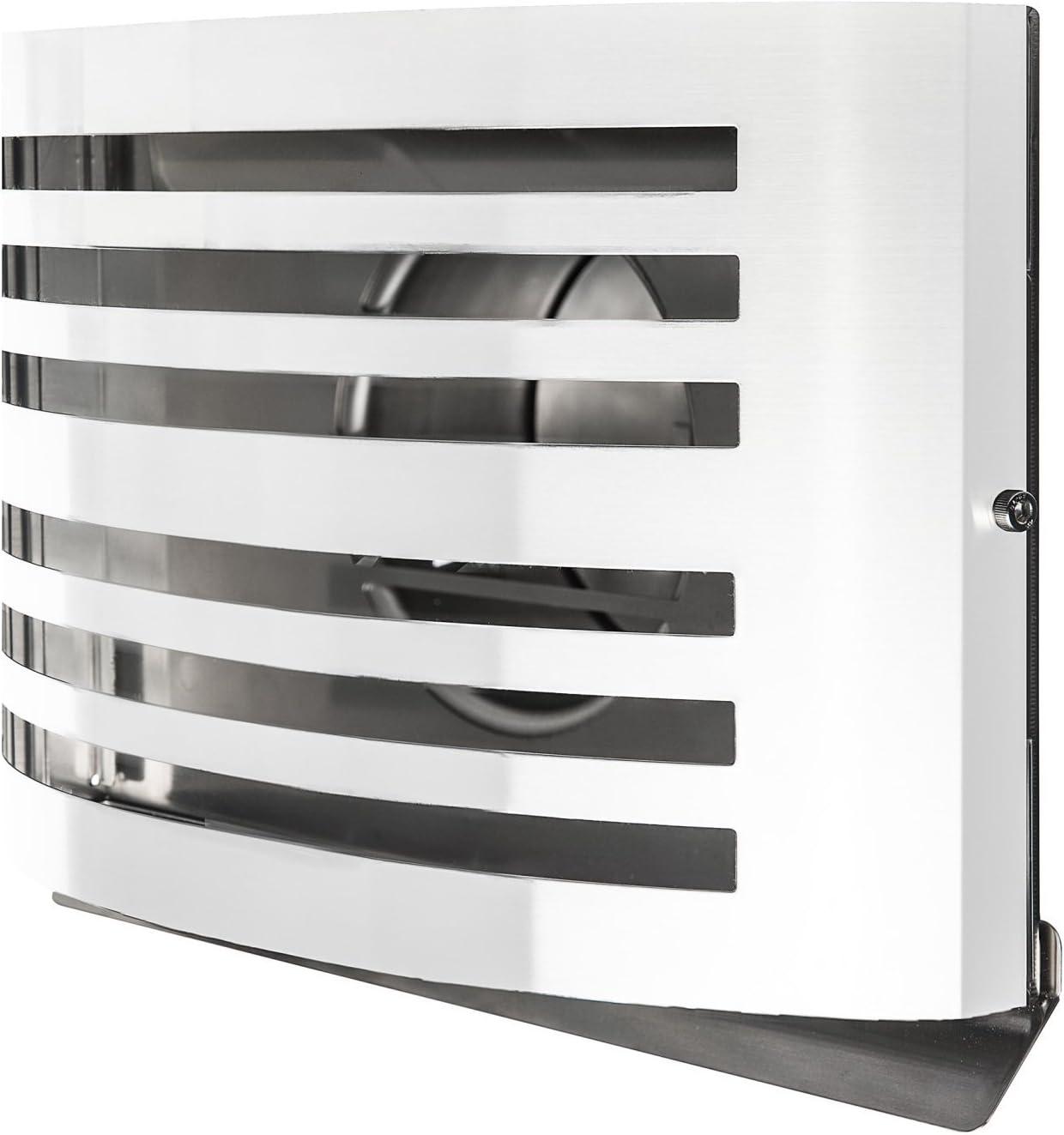 Paneir RAL 9010 - Rejilla de ventilación (acero inoxidable, con válvula antirretorno, 150 mm), color blanco: Amazon.es: Bricolaje y herramientas