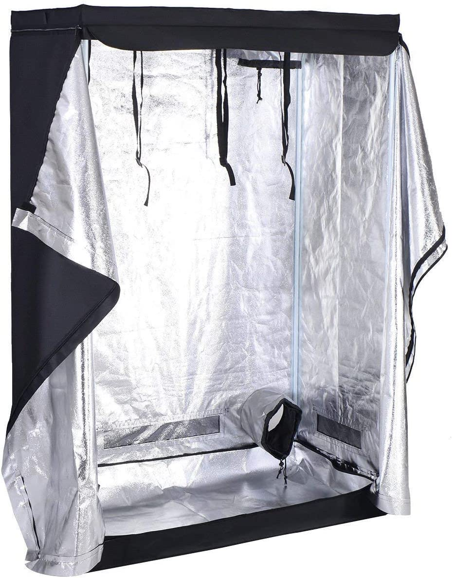 Maxmass Reflective Water-Proof Plant Grow Tent with Lighting Equipment Metal Rail /& Aluminum Foil 80 * 80 * 160CM Hydroponic Grow Tent Set Light Box Kit Dark Room