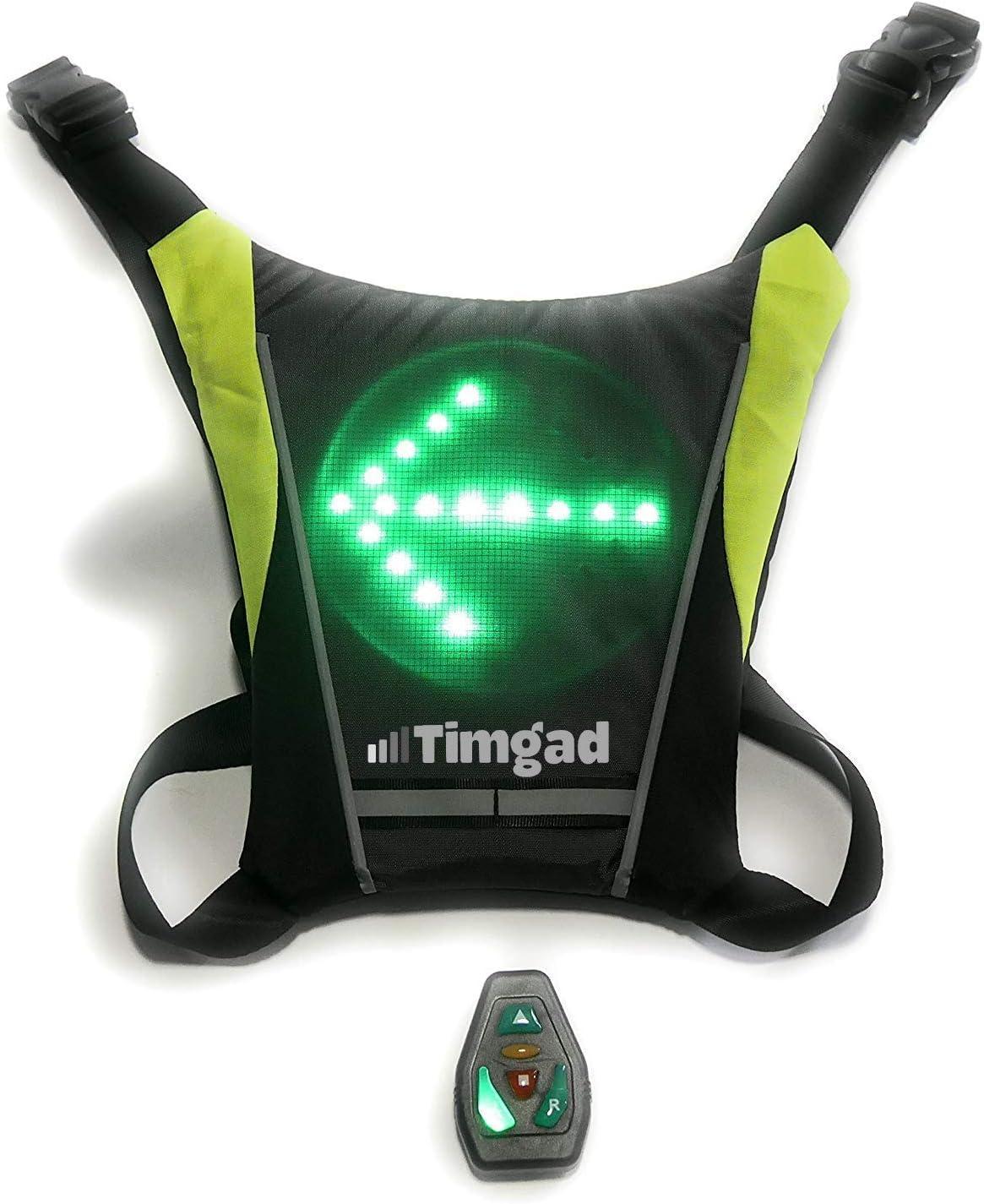 Timgad Chaleco Intermitente LED de Seguridad Reflectante Muy Luminoso para Bicicleta, Patinete eléctrico, Dos Ruedas, hoverboarding, Correr, Running, Patinar, Patinar, Correr, Caminar