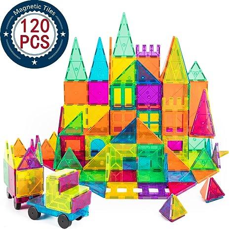 Amazon Com Kids Magnet Toys Magnet Building Tiles 120 Pcs 3d