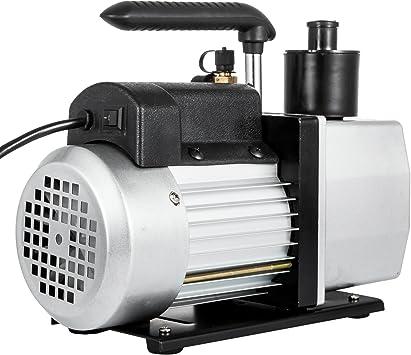 2 Stage 5CFM Rotary Vane Vacuum Pump 1//2HP HVAC AC Refrigerant Air Conditioning