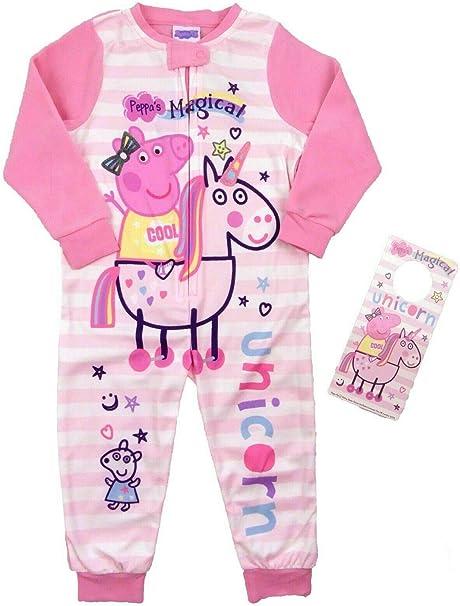 Peppa Pig Character - Pijama - para niña Rosa Rosa 4-5 Años ...