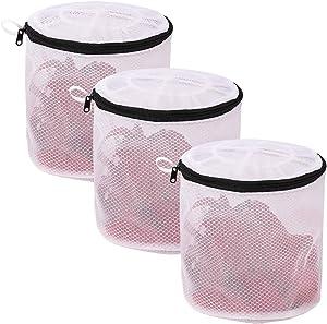 YLWEFT Bra Washing Bags for Laundry, Bra Bags for Washing Machine, Mesh Laundry Bag, Bra Washer Protector, Wash Bag for Bras, Laundry Bags Mesh Wash Bags for Socks, Hosiery, Underwear(3 Pack)