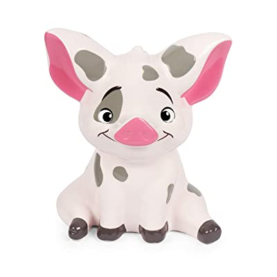 Moana Pua Pig Money Bank Figual Ceramic with Rubber Stopper: Office Products