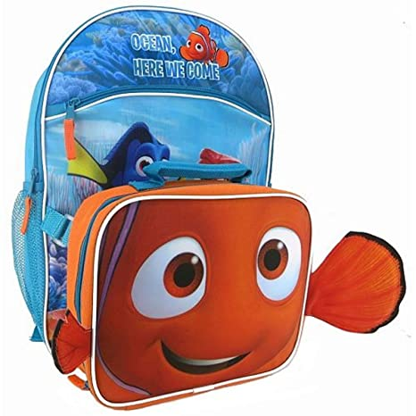 48bb7c3fda8 Image Unavailable. Image not available for. Color  Disney   Pixar Finding  Dory Kids Backpack   Lunch Tote Set