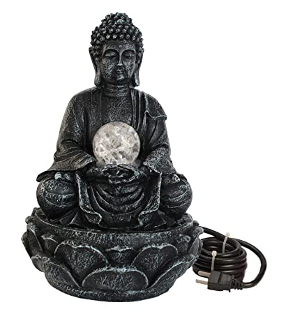 TIED RIBBONS Water Fountain Buddha Show Piece for Garden Outdoor (28 cm X 13.5 cm X 14 cm)
