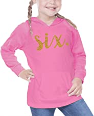 Girl Sixth Birthday Shirt Sixth Birthday Outfit Six Year Old Birthday Outfit (6T Hot Pink)
