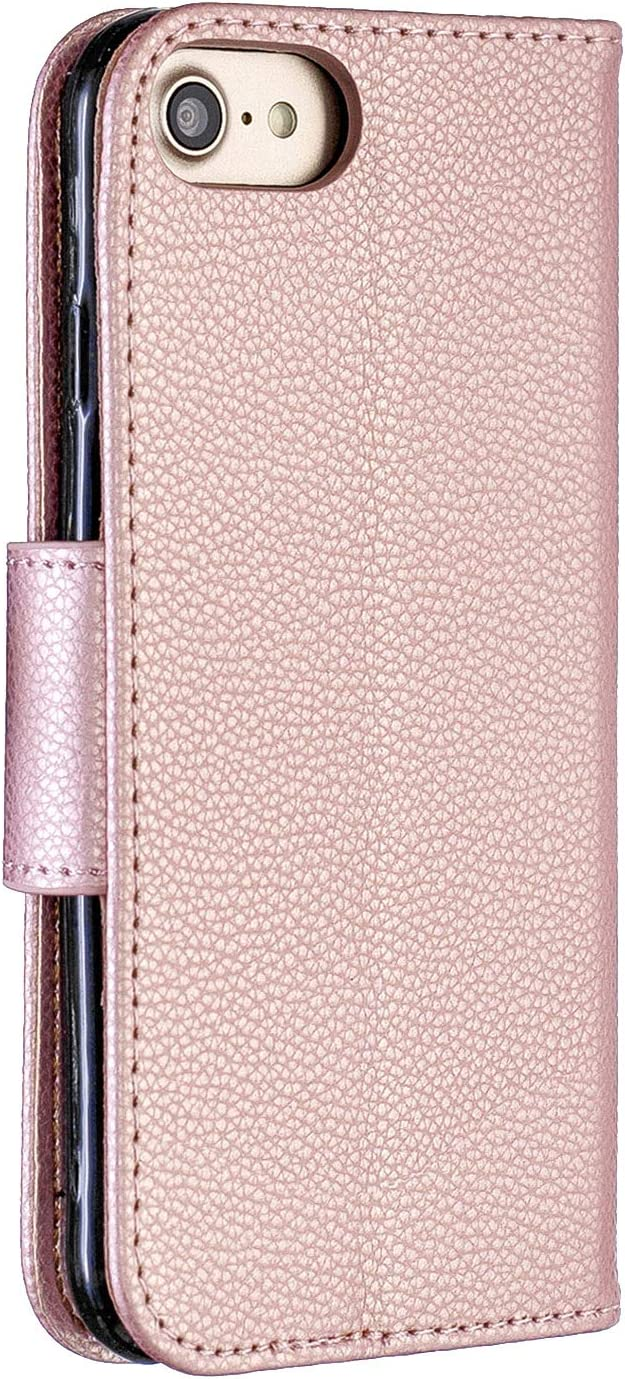 Luxury PU Leather Wallet Case for iPhone 7 Plus,Flip Folio Case for iPhone 8 Plus,Moiky Mint Multifunctional Magnetic Kickstand Case Cover With Wrist Strap and ID/&Credit Cards Slots
