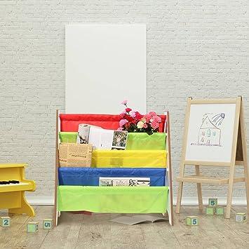 Juguetes Gototop Estantería Color Infantil Con Muebles Niños Bolsillomarco Madera Almacenamiento Para Librería Estante De QdWoerCxB
