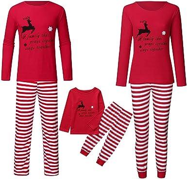 Pijamas Familiares Traje de Navidad, Gusspower Conjunto de Ropa de ...