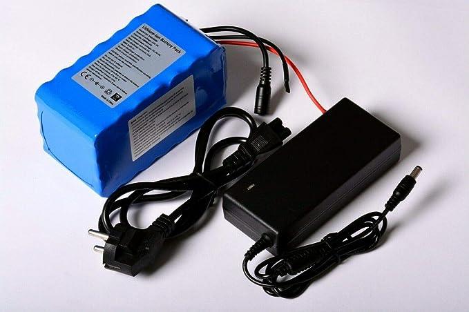 Aftertech® - Paquete de batería de 24 V, 24 V, pico de 15 A, recargable, de alta calidad, de litio, para bicicleta eléctrica 24V 10AH 140x74x70mm F1C1: Amazon.es: Electrónica