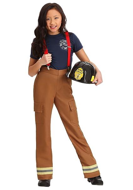 Amazon.com: Disfraz de Capitán de Fuego para niña: Clothing