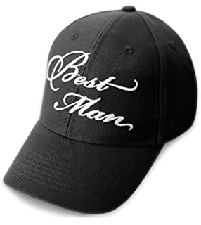 21a2aeb2 Amazon.com: GROOM Wedding Baseball Cap Black Hat with White ...
