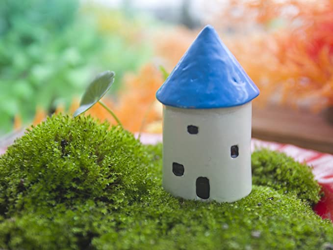 103 Pieces Miniature Garden Ornaments Kit For Fairy Garden Decor Home Decoration Outdoor Flower Kit DIY Dollhouse Flower Bridge Mushroom Rabbit Dog Shape bluesees Miniature Fairy Garden Accessories