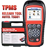 Autel TS601 TPMS Relearn Tool, Sensor Programming Tool, OBDII Code Reader, Active test for TPMS system, Advanced Version…