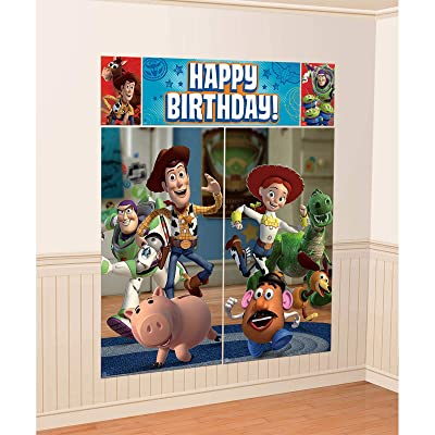 Disney Toy Story Scene Setters Wall Banner Decorating Kit Birthday Party Supplies: Toys & Games