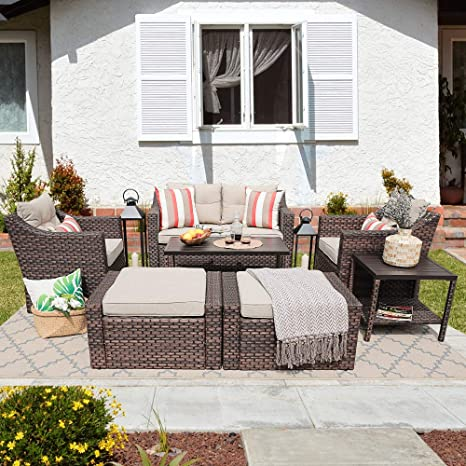 Amazon.com: SUNSITT - Juego de 7 muebles de exterior con ...