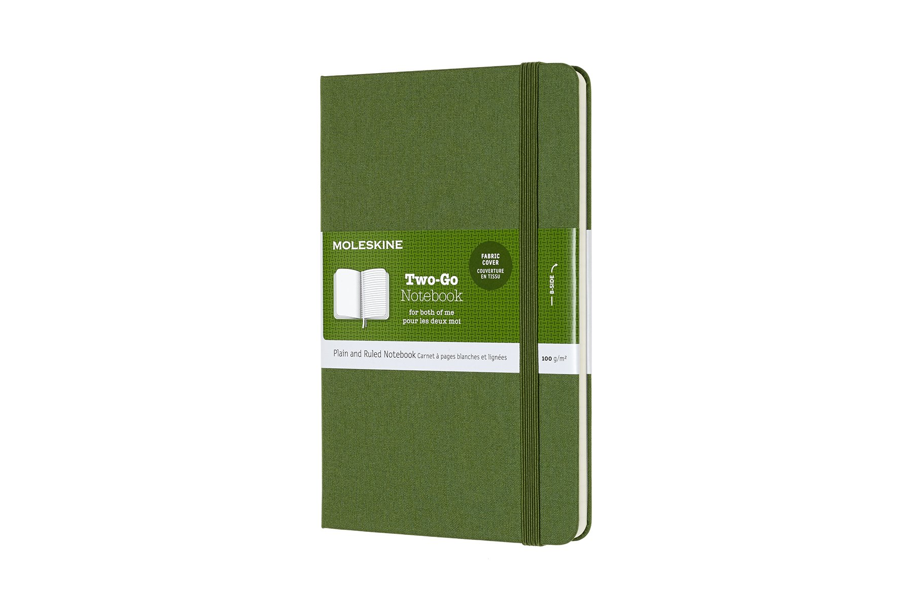 Moleskine Two-Go Hard Cover Notebook, Mixed (Ruled-Pl ()