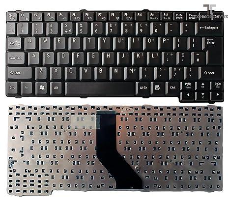 Teclado para ordenador portátil TOSHIBA SATELLITE L35-SP2011 L35-SP2031 negro mate UK sin