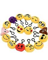 Zindoo Porte clé emoji Lot de16 Pcs mignon Mini Emoji Porte- clés Caca Emoji Marrant Peluche Porte Clef Emoji Décorations Accessoire Cadeau Parfait pour Enfants anni party fêtes de Noël et d'Hallow
