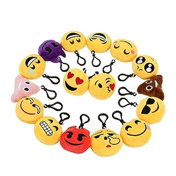 Mini Emoji Llavero Emoción Llavero Felpa Zindoo Fiesta de Cumpleaños Favores Rellenos del Bolso del Partido Regalitos Divertidos para las Fiestas de ...